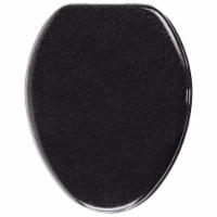 Sanilo 129 Elongated Soft Close Molded Wood Adjusting Toilet Seat, Black Glitter - 1 Piece