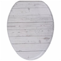 Sanilo 145 Elongated Soft Close Lid Molded Wood Adjustable Toilet Seat, Timber - 1 Piece