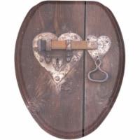 Sanilo 168 Elongated Soft Close Lid Molded Wood Adjustable Toilet Seat, Lock - 1 Piece