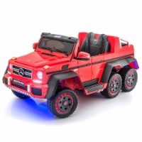 SUPERtrax Licensed Mercedes Benz G63 Kids Ride On Toy Car w/ Controller, Red - 1 Piece