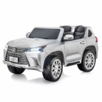 SUPERtrax Licensed Lexus LX570 Kids Ride On Toy Car w/Controller, Atomic Silver - 1 Piece