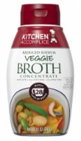 Kitchen Accomplice Reduced Sodium Veggie Broth Concentrate - 12 oz