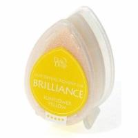 Tsukineko Brilliance Dew Drops Pigment Ink Pad - Sunflower Yellow - 1