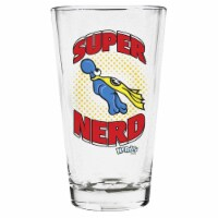 Imaginarium Goods Clear pint glass, Super Nerd