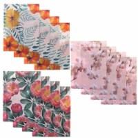 Decorative 2-Pocket Folders, Plastic, Letter Size, 3 Floral Designs (12 Pack) - PACK