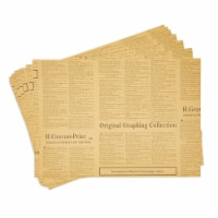 Newspaper Wrapping Paper for Men's Birthday Gifts, 12 Printed Sheets (27 x 19 In) - PACK