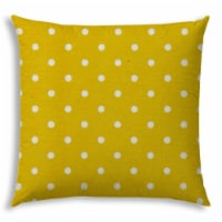 Joita Diner Dot Polyester Jumbo Outdoor Zippered Pillow Cover in Creamy Yellow