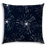 Joita Fireworks Polyester Jumbo Outdoor Zippered Pillow Cover in Navy Blue - 1