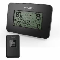 Baldr WS0303BL1 Thermo Hygrometer Weather Station, Black - 1