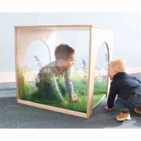 Whitney Brothers WB2452 Nature View Playhouse Cube with Floor Mat Set, Natural