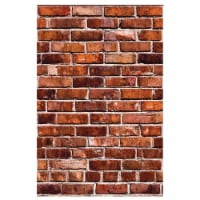 Wallies 17003 Brick Vinyl Wall Decals - 25 x 38 in. - 2 per Pack - 2