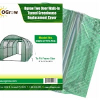 Ogrow OGRC17778-PEG Two Door Walk-In Tunnel Greenhouse to Fit Frame, Green - 15 x 6 x 6 in.
