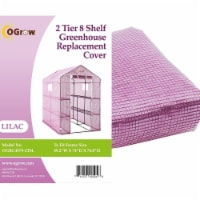 Ogrow OGRC4979-2T8L 2 Tier Greenhouse PE Replacement Cover, 8 Shelf - 49.2 x 74 x 74.8 in.