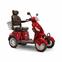 EWheels EW-46 4 Wheel 3 Speed Electric Battery Medical Mobility Scooter, Red - 1 Unit
