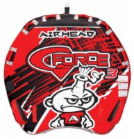 AIRHEAD AHGF-3 G-Force 3 Triple Rider Inflatable Towable Tube w/ 60ft Tow Rope - 1 Unit