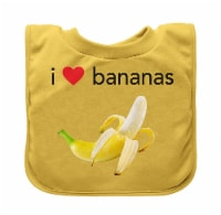 Green Sprouts  Pull-Over Food Bib Yellow Banana 9/18mo