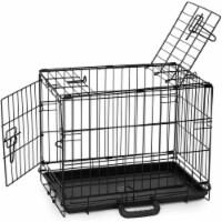 Precision Pet ProValu Indoor & Outdoor Double Door Wire Kennel Dog Crate, Black - 1 Piece