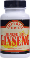 Imperial Elixir Chinese Red Ginseng Dietary Supplement Capsules