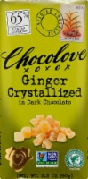 Chocolove Ginger Crystallized in Dark Chocolate Bar