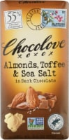 Chocolove Almonds Toffee & Sea Salt in Dark Chocolate Bar
