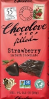 Chocolove Filled Strawberry in 55% Dark Chocolate Bar