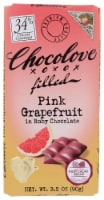 Chocolove Filled Pink Grapefruit in Ruby Chocolate Bar