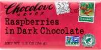Chocolove Mini Dark Chocolate Raspberries Chocolate Bar
