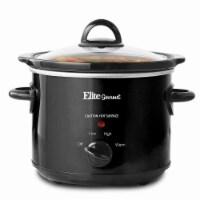 Elite Cuisine MST-350B 3 qt. Elite Gourmet Steel Slow Cooker - Black