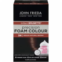 John Frieda Brilliant Brunette 5N Medium Natural Brown Precision Foam Hair Color