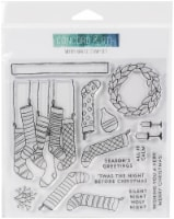 """Concord & 9th Clear Stamps 6""""X6""""-Merry Mantle - 1"""