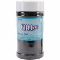 Metallic Glitter 8oz-Black - 1