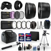 58mm Top Professional Lens Kit For Canon Eos Rebel T6i, T6, T5i, T5 And T4i - 1