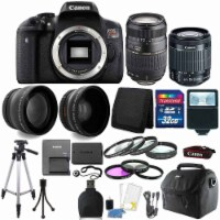 Canon Eos Rebel T6 18mp Dslr Camera + 18-55mm + 70-300mm + 32gb Accessory Kit - 1