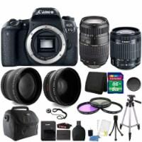 Canon Eos Rebel 77d 24.2mp Dslr Camera + 18-55mm + 70-300mm + 8gb Accessory Kit