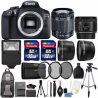 Canon Eos Rebel T6 18mp Dslr Camera + 18-55mm + 50mm 1.8 Stm + 64gb Lens Kit - 1
