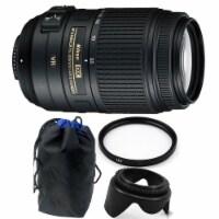 Nikon Af-s Dx Nikkor 55-300mm F/4.5-5.6g Ed Vr Lens + 58mm Uv Filter & Lens Hood