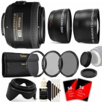 Nikon Af-s Dx Nikkor 35mm F/1.8g Lens With Accessories For Nikon Dslr Cameras