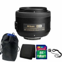 Nikon Af-s Dx Nikkor 35mm F/1.8g Lens With Accessory Kit For Nikon Dslr Cameras