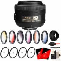 Nikon Af-s Dx Nikkor 35mm F/1.8g Lens With Ultimate Accessory Bundle For Nikon Dslr Cameras