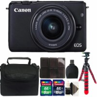 Canon Eos M10 Mirrorless Digital Camera + Ef-m 15-45mm Lens + 24gb Accessory Kit