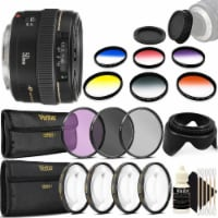 Canon Ef 50mm F/1.4 Usm Lens + 58mm Accessory Kit For Canon T7 T7i T6 - 1