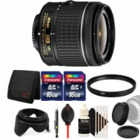 Nikon Af-p Dx Nikkor 18-55mm Lens For Nikon Dslr Cameras W/ Accessory Bundle