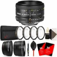 Nikon Af Nikkor 50mm F/1.8d Lens For Nikon D7000 , D7100 , D7200 And D7500 With Accessories