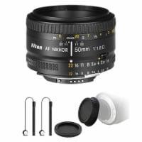 Nikon Af Nikkor 50mm F/1.8d Lens For Nikon Dslr Cameras And Top Accessory Bundle - 1