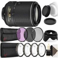 Nikon Af-s Dx Nikkor 55-200mm Vr Ll Lens & Accessory Kit For Nikon Dslr Cameras
