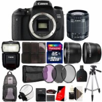 Canon Eos 760d 18mp Dslr Camera With 18-55mm Ls Stm Lens , 430ex Flash And Accessory Bundle