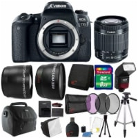 Canon Eos 77d 24.2mp Dslr Camera W/ 18-55mm Lens , Ttl Flash And Accessories - 1