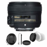 Nikon Af-s Nikkor 50mm F/1.8g Lens With Accessory Kit For Nikon Digital Slr Cameras - 1