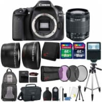Canon Eos 80d Dslr Camera With 18-55mm Lens , Canon Case & 24gb Accessory Kit - 1