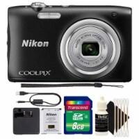 Nikon Coolpix A100 20.1mp Digital Camera 5x Optical Zoom Black With 8gb Accessory Kit - 1